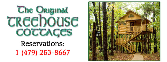 Treehouse cottages eureka springs treehouse cottages for Tree house cabins arkansas